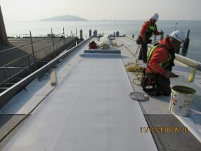 Roofing membrane installation