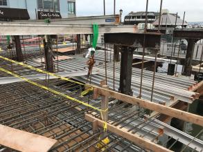 Formwork for Deck Pour #16 in the plaza